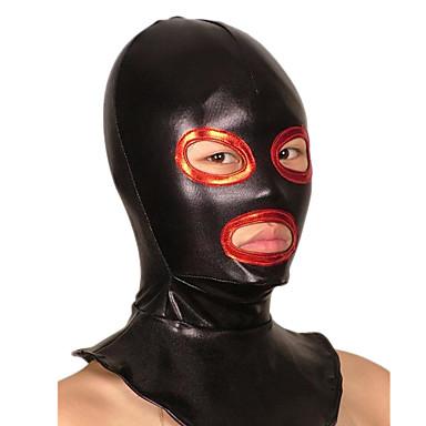 Maske Ninja Zentai Kostüme Cosplay Kostüme Schwarz Patchwork Maske Glänzend Metallisch Herrn / Damen Halloween / Hochelastisch