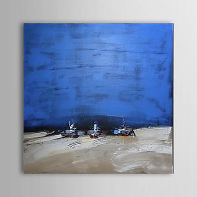 Ručno oslikana Pejzaž Kvadrat Platno Hang oslikana uljanim bojama Početna Dekoracija Jedna ploha