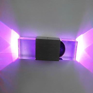 Duvar ışığı Ortam Işığı 2 W 90-240V Birleştirilmiş LED Modern / Çağdaş Eloktrize Kaplama