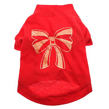 Câine Tricou Îmbrăcăminte Câini Respirabil Nod Papion Rosu Costume Pentru animale de companie