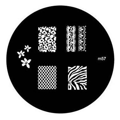 4PCS Nail Art Stamp Stamping Image Template Plate M Series NO.4