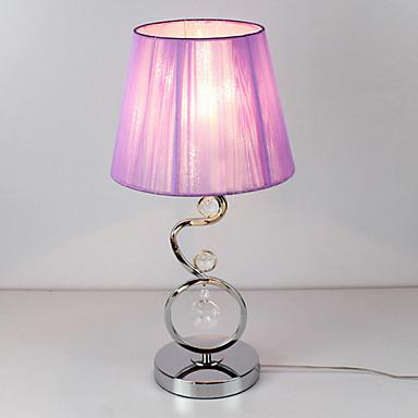 L mpara de mesa moderna con un elegante color rosa tela - Decoracion con lamparas ...
