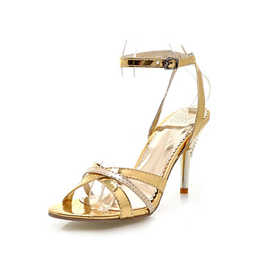 Patent Leather Stiletto Heel Sandals With Buckle Party / Evening Shoes (More Colors)