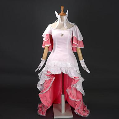 Inspirovaný Puella Magi Madoka Magica Madoka Kaname Anime Cosplay kostýmy Cosplay šaty Šaty Patchwork Bez rukávů Šaty Vlasové ozdoby