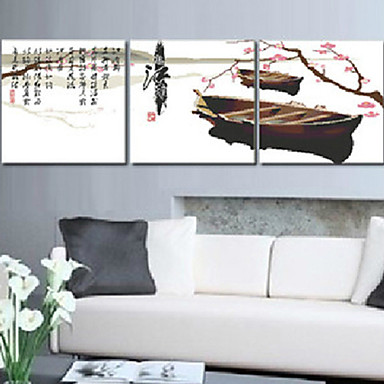 meian DIY ημιτελή βαμβάκι θυμάστε Jiangnan 11ct / ίντσα βελονιά-σετ των 3 κεντημένο ύφασμα μέγεθος: 51 * 51 εκατοστά * 3