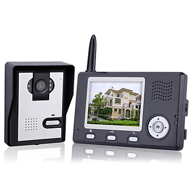 ワイヤレスナイトビジョンカメラ+ 3.5インチドアホンモニター