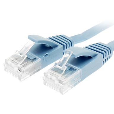 Cat 6 Muž Muž na síťový kabel plochý typ Modrá (1M)