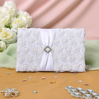 Guest Book Satin Floral Theme Classic ThemeWithPetal
