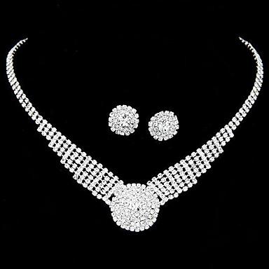 Pentru femei Zirconiu / Diamante Artificiale Set bijuterii Σκουλαρίκια / Coliere - de Mireasă Alb Seturi de bijuterii Pentru Nuntă