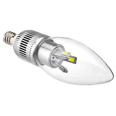 3w e12 led lumina lumanari c35 6 smd 5630 180-250lm naturale albe 6500k decorative ac 100-240v