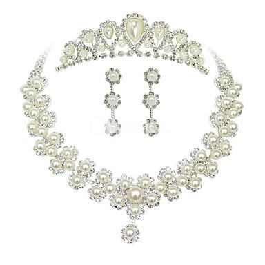 Damen Anderen Schmuck-Set Ohrringe / Halsketten / Tiara - Regulär Pearl White Für Hochzeit / Party / Besondere Anlässe