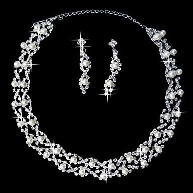 Šperky Set Dámské Výročí / Svatba / Zásnuby / Narozeniny / Párty / Zvláštní příležitost Sady šperků SlitinaImitace perly / imitace