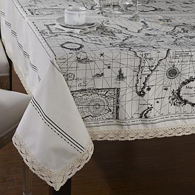 Carte du monde Nappe de table de style