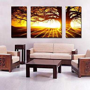 Reprodukce na plátně Krajina Klasický Moderní evropský styl Tradiční,Tři panely Horizontálně Tisk Art Wall Decor For Home dekorace