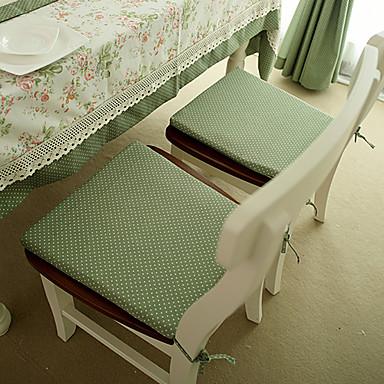 Poli / Pamuk Karışımı Dikdörtgen Sandalye Minderi Yuvarlak Noktalı Masa Süslemeleri
