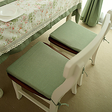 Nykyaikainen Mélange Poly / Coton Suorakulma Chair Pads Polka Dot Pöytäkoristeet 1 pcs