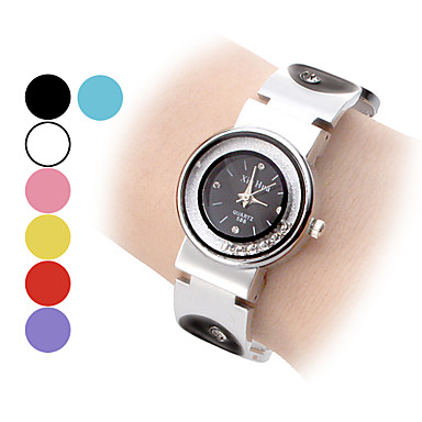 Women's Fashion Watch Wrist watch Bracelet Watch Floating Crystal Watch Quartz Band Vintage Black White Blue Red Pink Purple Yellow