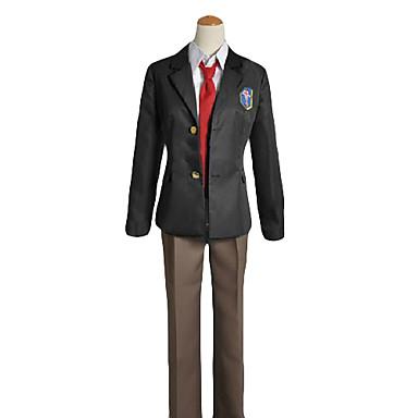 Esinlenen Bedava! Rei Ryugazaki Anime Cosplay Kostümleri Cosplay Takımları Okul Üniformaları Solid Uzun Kollu Palto Gömlek Pantalonlar
