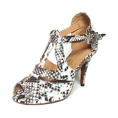 Kadın's Latin Dans Ayakkabıları / Balo Yapay Deri Topuklular Toka Kişiye Özel Kişiselleştirilmiş Dans Ayakkabıları