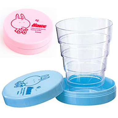 roztomilý kreslený přenosný skládací teleskopický pohár skládací cestovní baby pití hrnek narozeninový dárek