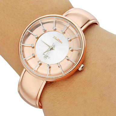 Women's Concise Style Round Dial Alloy Band Quartz Analog Bracelet Watch (Assorted Colors) Cool Watches Unique Watches