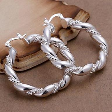 Pentru femei Cercei Rotunzi  Aliaj Σταυρός Bijuterii Argintiu Zilnic Costum de bijuterii
