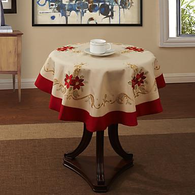 Polyester Kulatý Ubrusy Květinový Stolní dekorace