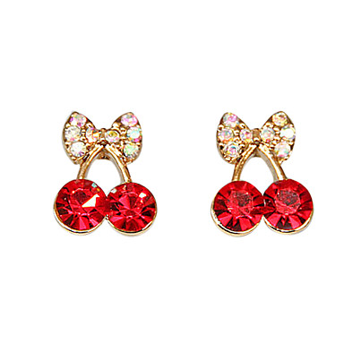Stud Earrings Crystal Alloy Simulated Diamond Jewelry Party Daily