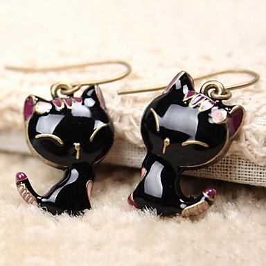 Χαμηλού Κόστους Μοδάτα Σκουλαρίκια-Γυναικεία Κρεμαστά Σκουλαρίκια Κλασσικό Γάτα Ζώο Φτηνός Κομψό & Μοντέρνο χαριτωμένο στυλ Ρητίνη Σκουλαρίκια Κοσμήματα Μαύρο Για Καθημερινά Εσωτερικό 1 Pair