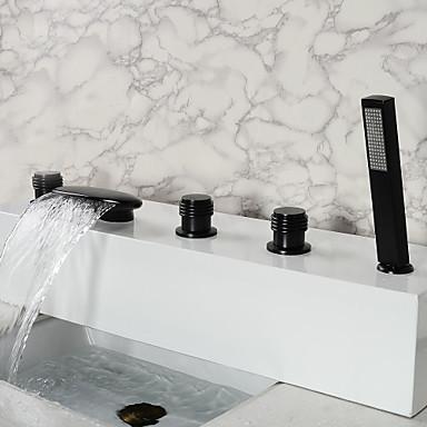 Vintage Oil-frotado bronce grifo de la bañera Cuarto de baño con ducha de mano