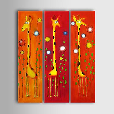 El-Boyalı Karton Dikey Panoramik Tuval Hang-Boyalı Yağlıboya Resim Ev dekorasyonu Üç Panelli