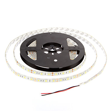 ZDM® 5m Fâșii De Becuri LEd Flexibile 60 LED-uri 5050 SMD Alb Cald / Alb Rece Rezistent la apă 12 V 1 buc / IP65
