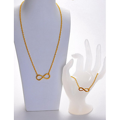Jewelry Set Women's Birthday / Gift / Party / Daily / Special Occasion Jewelry Sets Alloy Necklaces / Bracelets / Earrings Gold