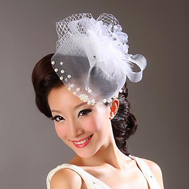 Tul Imitație de Perle Material Textil Diadema-Nuntă Ocazie specială Flori