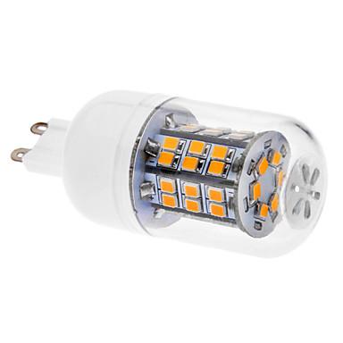 G9 Becuri LED Corn T 46 led-uri SMD 2835 Alb Cald 520-550lm 3000K AC 220-240V