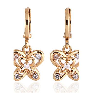 KU NIU Women's Gold Plating Zircon Long 25Mm Earring Er0186