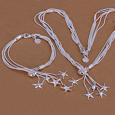 Silver Plated Necklaces Bracelets & Bangles For Party Birthday Engagement Gift Daily Wedding Gifts