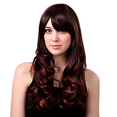 Sentetik Peruklar Katmanlı Saç Kesimi / Bantlı Sentetik Saç Peruk Kadın's