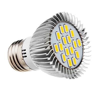 E26/E27 Spoturi LED 16 led-uri SMD 5730 Alb Cald 420-450lm 2500-3500K AC 220-240V