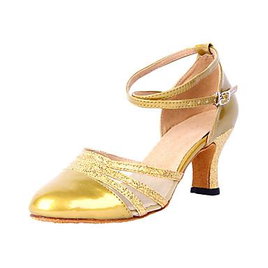 Damer Moderne Ballet Kunstlæder Hæle Personligt tilpassede hæle Sort Sølv Gyldent Kan tilpasses