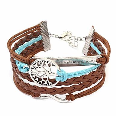 Dámské Wrap Náramky Klasické Náramky Jedinečný design Vícevrstvé bižuterie Módní Látka Slitina Šperky Nekonečno Šperky Pro Denní Ležérní
