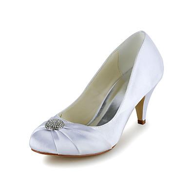 Women's Shoes Round Toe Stiletto Heel Satin Pumps Shoes More Colors available