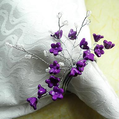 Blomst Akryl / Bomuld Servietring Øko Venlig Borddekorationer