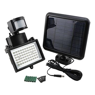billige Utendørsbelysning-3.6W 420lm lyse solenergi 60 ledet bevegelsessensor sikkerhet vegg lys flom lampe søkelys