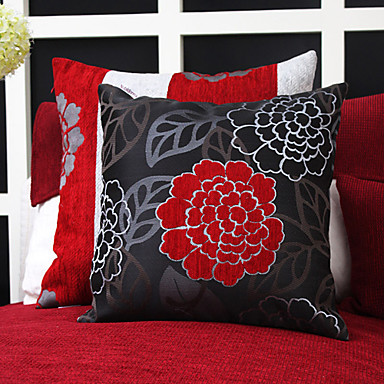 2 pcs Polyester Pillow Cover, Floral Modern/Contemporary