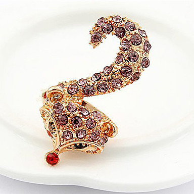 Ring Fashion Party Jewelry Alloy / Rhinestone Women Statement Rings 1pc,One Size Gold