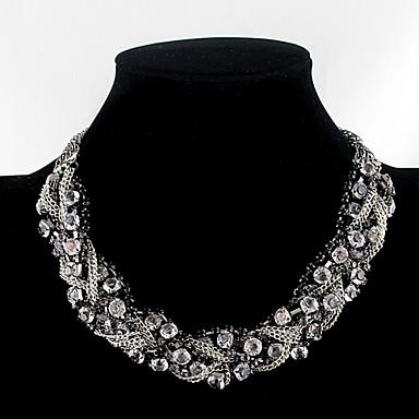 Damen Strass Halsketten  -  Modische Halsketten Für Party