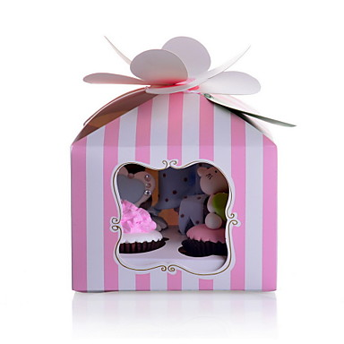 Kreativ kubisch Kartonpapier Geschenke Halter mit Muster Kuchenverpackung und Boxen