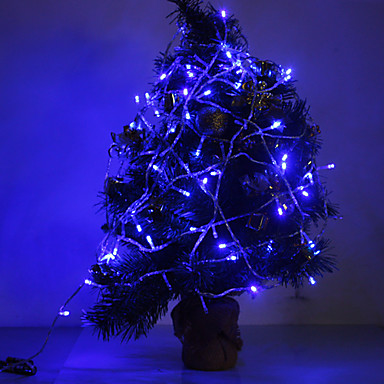 10M 6W 100-LED 420LM Blue Light LED Strip Light for Decorations with 8 Display Modes (220V)