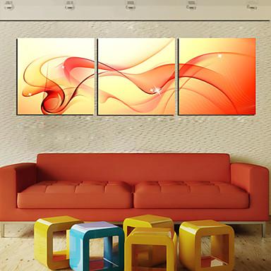 Aufgespannte Leinwandrucke Leinwand-Set Abstrakt Drei Paneele Horizontal Druck Wand Dekoration Haus Dekoration